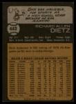 1973 Topps #442  Dick Dietz  Back Thumbnail