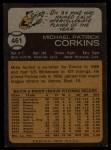 1973 Topps #461  Mike Corkins  Back Thumbnail