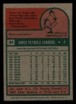 1975 Topps Mini #94  Jim Lonborg  Back Thumbnail