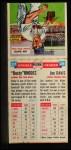 1955 Topps DoubleHeader #27 / 28 -  Dusty Rhodes / Jim Davis  Back Thumbnail