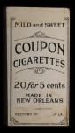 1914 Coupon T213 #205  Rube Oldring  Back Thumbnail