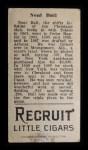 1912 T207  Neal Ball    Back Thumbnail