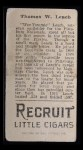 1912 T207  Tommy Leach    Back Thumbnail