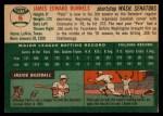 1954 Topps #6 WHT Pete Runnels  Back Thumbnail