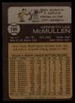 1973 Topps #196  Ken McMullen  Back Thumbnail