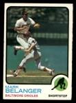 1973 Topps #253  Mark Belanger  Front Thumbnail