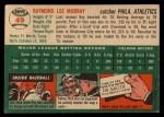 1954 Topps #49 WHT Ray Murray  Back Thumbnail