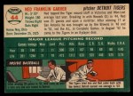 1954 Topps #44 WHT Ned Garver  Back Thumbnail