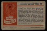 1954 Bowman Power for Peace #27   Unmanned Matador Takes Off Back Thumbnail