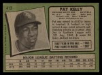 1971 Topps #413  Pat Kelly  Back Thumbnail