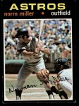 1971 Topps #18   -  Norm Miller    Front Thumbnail