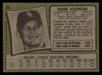 1971 Topps #56  Duane Josephson  Back Thumbnail