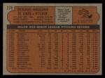 1972 Topps #278  Dennis Higgins  Back Thumbnail