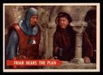 1957 Topps Robin Hood #27   Friar Hears The Plan Front Thumbnail