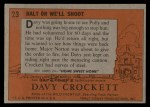1956 Topps Davy Crockett #23   Halt or We'll Shoot  Back Thumbnail