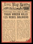 1965 A and BC England Civil War News #53   Train of Doom Back Thumbnail