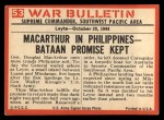 1965 Philadelphia War Bulletin #53   I Have Returned Back Thumbnail