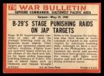 1965 Philadelphia War Bulletin #79   Tokyo Express Back Thumbnail