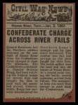 1962 Topps Civil War News #35   Gasping for Air Back Thumbnail