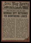 1962 Topps Civil War News #50   Stolen Secrets Back Thumbnail