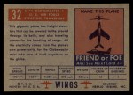 1952 Topps Wings #32   C-74 Globemaster I Back Thumbnail