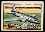 1952 Topps Wings #82   Convair 240 Front Thumbnail