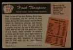 1955 Bowman #94  Hank Thompson  Back Thumbnail