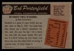 1955 Bowman #104  Bob Porterfield  Back Thumbnail