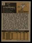 1971 Topps #4  Joe O'Donnell  Back Thumbnail