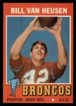 1971 Topps #9  Bill Van Heusen  Front Thumbnail