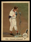 1959 Fleer #45   -  Ted Williams Farewell To Baseball Front Thumbnail