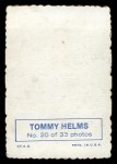 1969 Topps Deckle Edge #20  Tommy Helms  Back Thumbnail