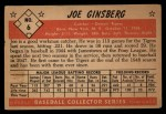 1953 Bowman #6  Joe Ginsberg  Back Thumbnail