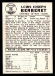 1960 Leaf #24  Lou Berberet  Back Thumbnail