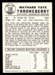 1960 Leaf #136  Faye Throneberry  Back Thumbnail