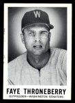 1960 Leaf #136  Faye Throneberry  Front Thumbnail