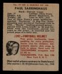 1948 Bowman #77  Paul Sarringhaus  Back Thumbnail