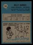 1964 Philadelphia #183  Bill Barnes   Back Thumbnail