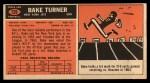 1965 Topps #129  Bake Turner  Back Thumbnail