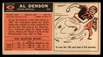 1965 Topps #49  Al Denson  Back Thumbnail