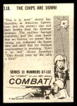 1964 Donruss Combat #118   The Chips Are Down Back Thumbnail