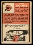 1966 Topps #78  Tom Goode  Back Thumbnail