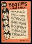 1964 Topps Beatles Color #56   Ringo at the beach Back Thumbnail