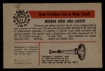 1953 Bowman Firefighters #15   Modern Hook and Ladder - Pirsch Back Thumbnail