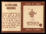 1967 Philadelphia #37   Cleveland Browns Team Back Thumbnail