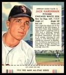 1955 Red Man #6 AL Jack Harshman  Front Thumbnail