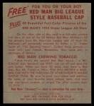 1955 Red Man #23 AL Chico Carrasquel  Back Thumbnail