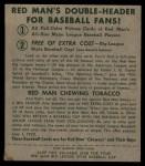 1952 Red Man #4 NL Cliff Chambers  Back Thumbnail