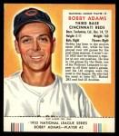 1953 Red Man #2 NL Bobby Adams  Front Thumbnail