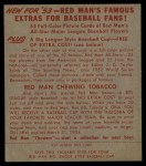1953 Red Man #8 AL George Kell  Back Thumbnail